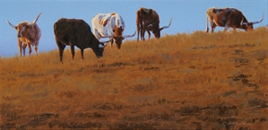 Cows on a Ridge by Johne Richardson