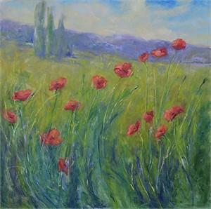 Poppies In the Breeze (Italian Poppies)