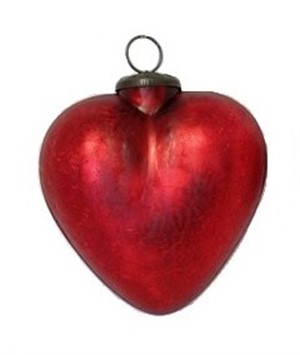 "Ornament - 3"" Red Matte Heart"