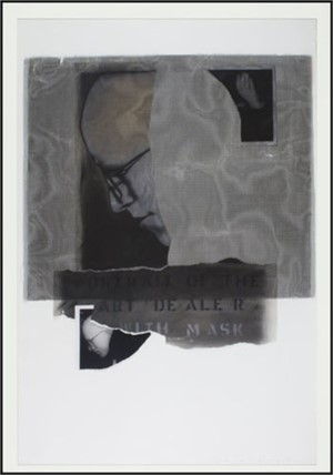 Art Dealer w/Mask (Portrait of David Barnett), 1986