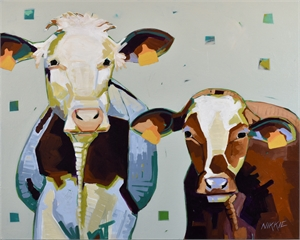 Bovine Besties (SOLD)