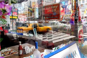 View From The Corner Table of Howard Johnson's, from the TIMES SQUARE NOW series (6/6), 2004