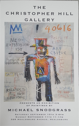 September 2016 Show Poster - Neo-Expressionist Art Critic - Signed by Artist
