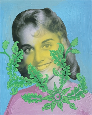 Untitled (Yellow Woman with Green Foliage)