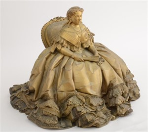 GILT-BRONZE FIGURE OF VICTORIA, PRINCESS ROYAL (KAISERIN FRIEDRICH) , Germany, 19th century