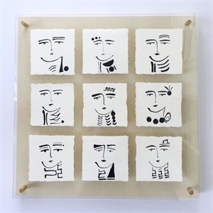 Phases of Faces I by Paige Kalena Follmann