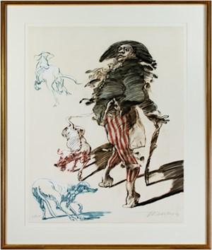 Polichinelle Et Ses Trois Chiens (25/250), 1988