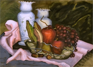 Satin Glass and Fruit, 1944