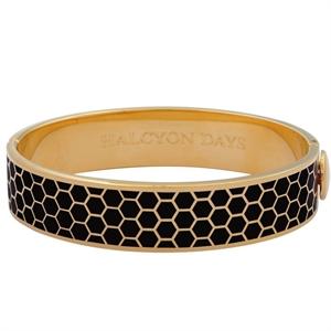 Gold Plated Honeycomb Bangle