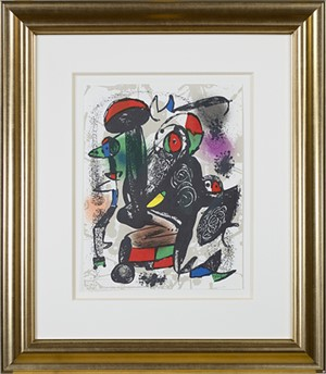 "Lithographie Originale III from ""Miro Lithographs IV, Maeght Publisher"", 1981"