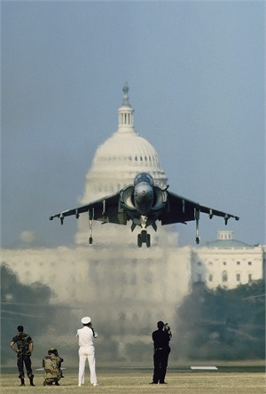 Capitol - Harrier Jet on Mall