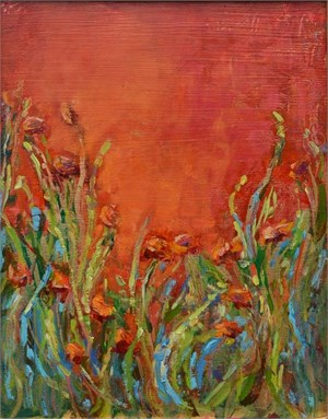 The Countessa's Poppies in Gold Leaf