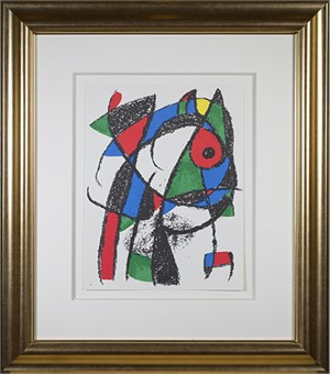"Original Lithograph I from ""Miro Lithographs II, Maeght Publisher"", 1975"