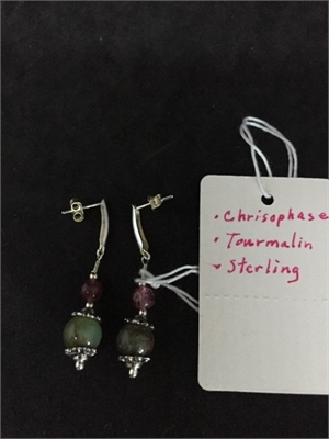 Earrings - Chrisophese, Tourmaline  #106, 2020