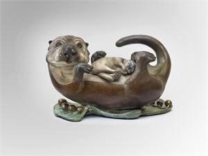Sea Otter Mom & Pup - Large (2/24), 2016