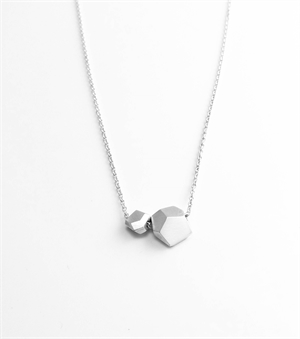 Sterling Silver Facet Bead Necklace