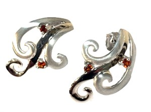 Earrings - Desert Wind Sterling Silver and Madera Citrine