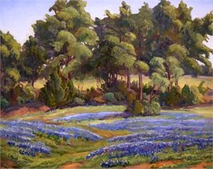 Bluebonnet Landscape, c. 1940s