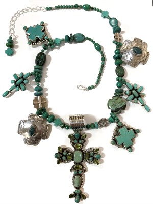 KY 1274 Turquoise Cross Necklace, 2018