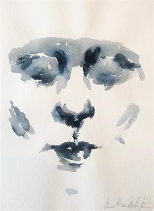 Face in Payne's Grey, 2019