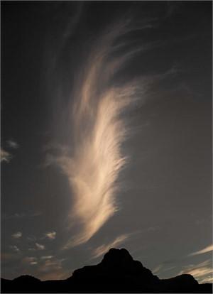 Big Cloud Over Safford Peak (1/30)