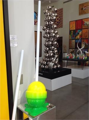 Yellow/green Ombré Medium  Puddle Lollipop, 2019