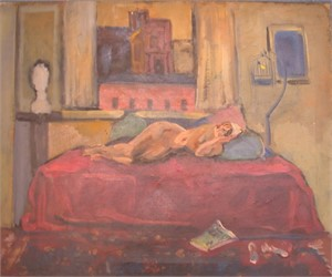 Reclining Nude with Bird, c. 1930