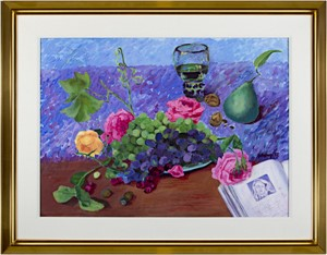 Roses & Grapes with Pear and Book, 2002