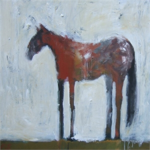 Horse Red/White