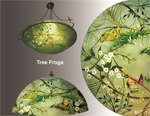 "Display Lamp-Tree Frogs 18"" base #1 - S"