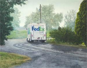 FedEx truck, 2017