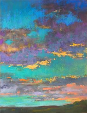 Aqua Sunset by Linda Richichi
