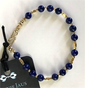 Bracelet - Lapis Lazuli & Gold Vermeil  #8015, 2019