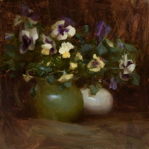 Yellow and Purple Pansies by Susan Lyon