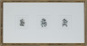 Gnomes Homes I, II & III, all signed, 1985