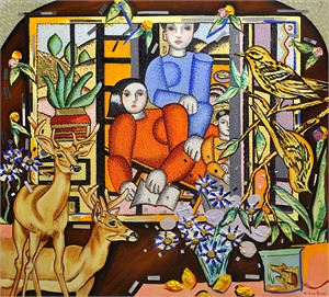 Interior with Leger Family
