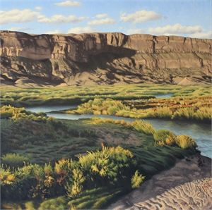 Rio Grande by the Sierra Ponce Cliffs
