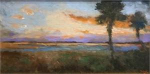 Sunset Over Waterway