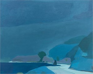 San Pedro Road in blue by Karen Smidth