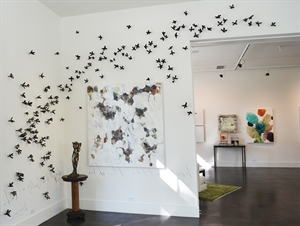 Floral Wall Installation (Wrought Iron), 2020