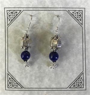 Earring - Lapis Lazuli & Sterling Silver  #8021, 2019