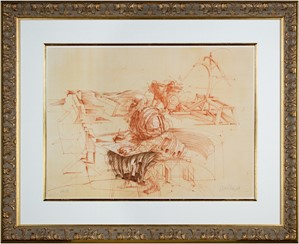 Homage a Leonardo d'Vinci (Leonardo Drawing w/Catapult from De La Bataille Vol. I), 1978