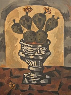Cactus in Concrete Urn, 2013