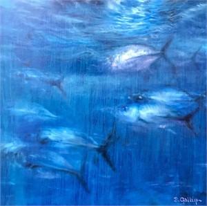 Blue Trevally in Moonlight