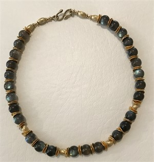 Necklace - Labradorite & Gold Vermeil  #7765, 2019
