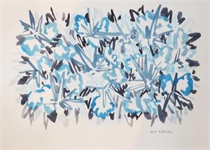 Study for Bromeliads III Blue