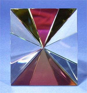 "Crystal Starburst Faceted with Large Face 6""-S"