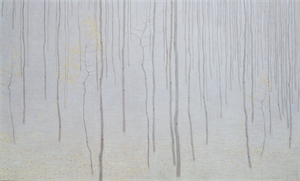 Forest with Early Snow and Fallen Leaves by David Grossmann
