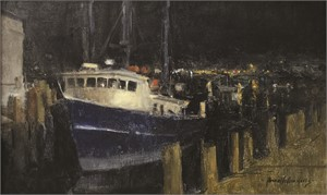 Night Boat, Gloucester Harbor