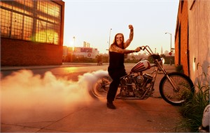 03050 Indian Larry On Bike With Smoke Color, 2003